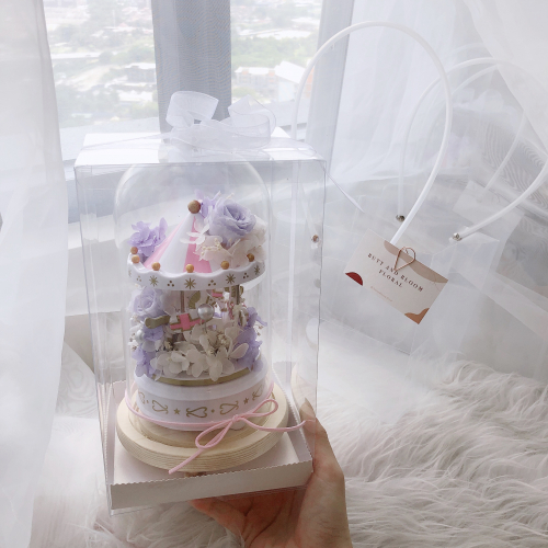 Preserved Flower: Fairytale in Glass Dome (Purple)