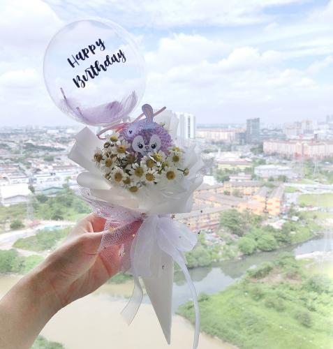 Stella Lou Chamomile cone bouquet