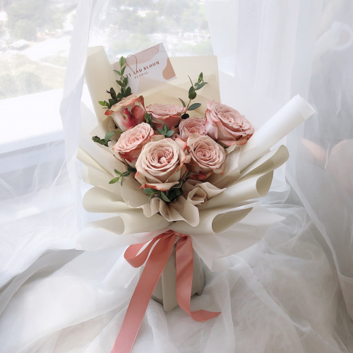 (S) Cappuccino Roses Bouquet
