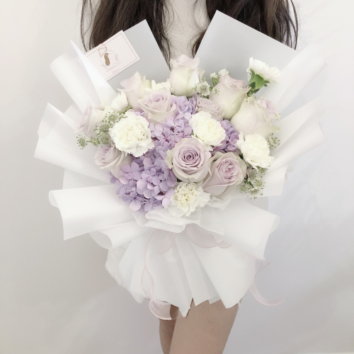 Purple Theme Garden Bouquet (M size)