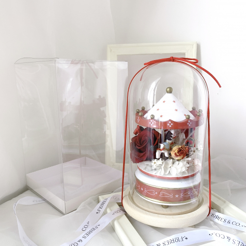 | VALENTINE'S DAY SPECIAL | Preserved Flower: Fairytale in Glass Dome