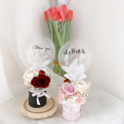 VALENTINE'S DAY 2021 | MINI PRESERVED FLOWER WITH BALLOON