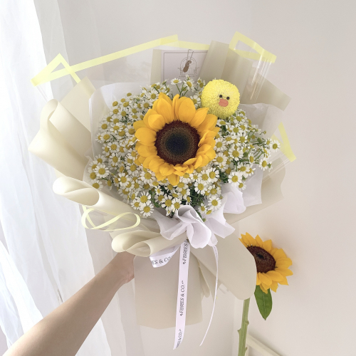 Chamomile Sunflower Bouquet (S)