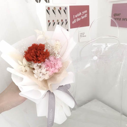 [MOTHER'S DAY] PRESERVED CARNATION BOUQUET