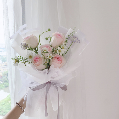 Chinese Valentine's Day | Mixed Flower Pink Rose (XS)