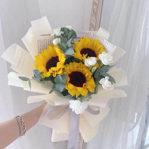 Sunshine Bouquet | 3 stalks Sunflowers