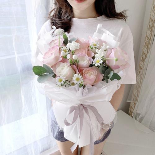 Unicorn Colour Roses bouquet   9 stalks