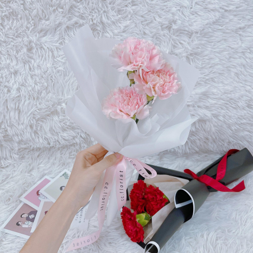 3 stalks Fresh Carnation Bouquet (Mothers Day 2021)