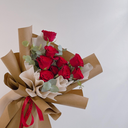 QiXi Valentines Day (Fresh Red Roses Bouquet)