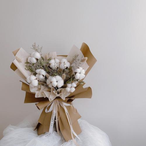 Cotton Flower Series (Preserved Flower Bouquet)