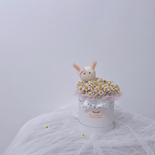 Bunny M size Box (Fresh Flower)