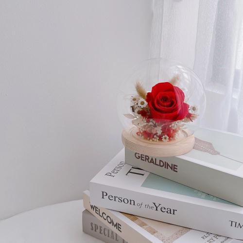 Red Theme Glass Globe (M size)