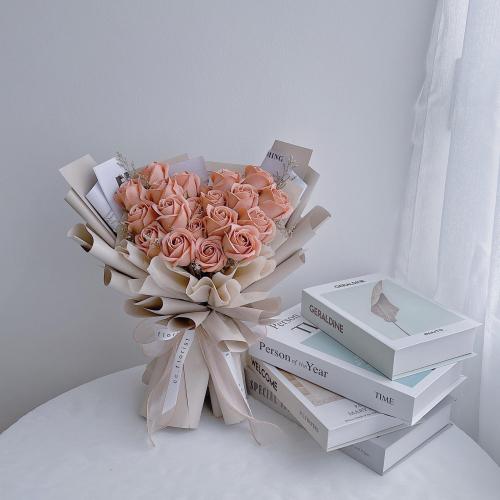Cappuccino Soap Roses Bouquet