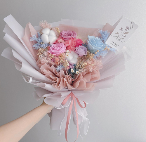 Pastel Theme Preserved Bouquet