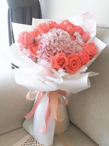 Hydrangea Plus 18 roses