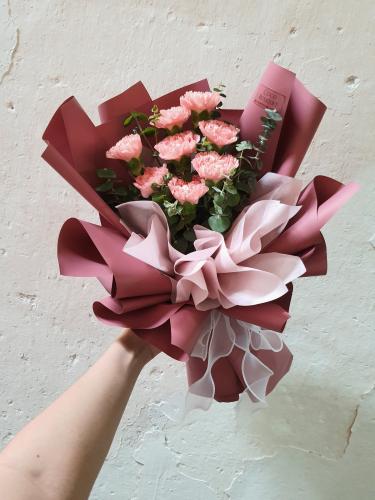 8 pink carnation