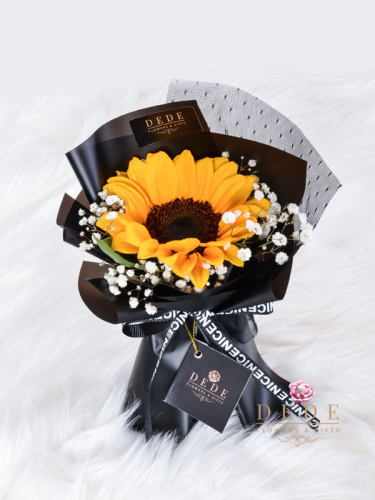 1 stalk Sunflower hand Bouquet