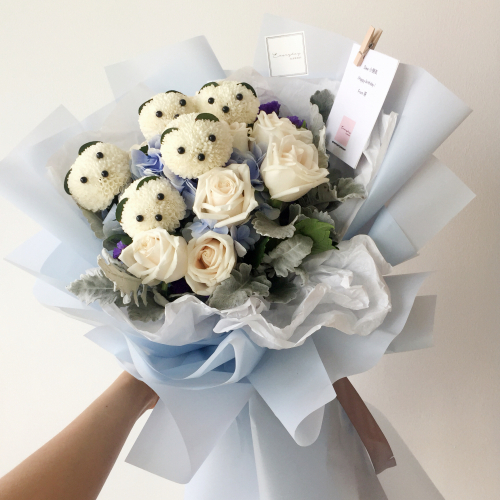 Bear Hugs (Blue Hydrangea)