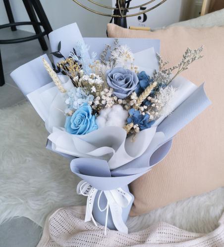 Ocean- Preserved Flower Bouquet