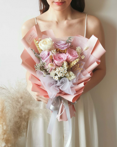 Dear Love Preserved Flower Bouquet