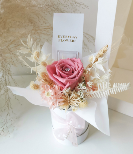 Mini Preserved Flower Box (Pink)