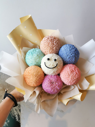 Smiley Ping Pong Bouquet