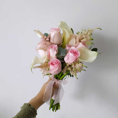 Roses and Calla Lily Bridal Bouquet
