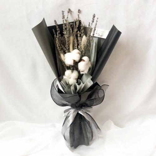 Dried Lavender Cotton Bouquet