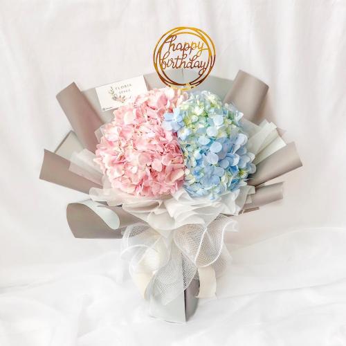 Blue & Pink Hydrangea