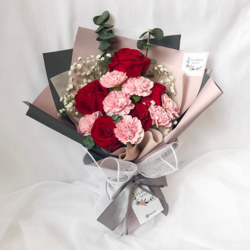 MOTHER'S DAY- MELISSA: Red Roses & Pink Carnations