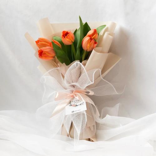 AMBER: Orange Tulips