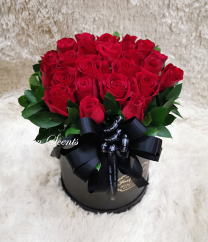 Red Rose with box