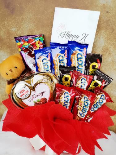 CC001 Chocolate With Bear Arrangements