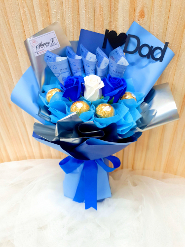 Father's Day 2020 Money Soap Rose With Ferrero Rocher Bouquet