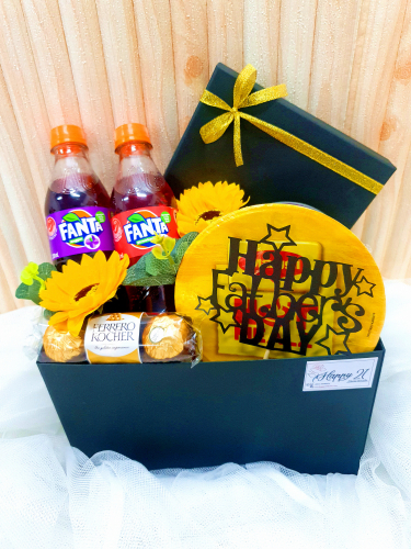 Father's Day 2020 Soap Flower Maggi Soft Drink With Ferrero Rocher In Box