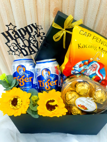 Father's Day 2020 Soap Flower Beer Groundnuts With Chocolate In Box