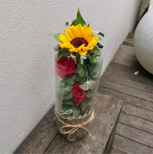 Sunflower in Wooden