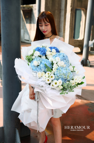 Majestic Dreamy Hydrangea Bouquet