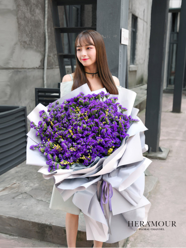 Majestic Purple Statice Bouquet