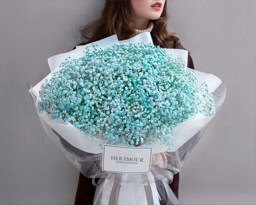 Majestic Tiffany Blue Baby Breath Bouquet