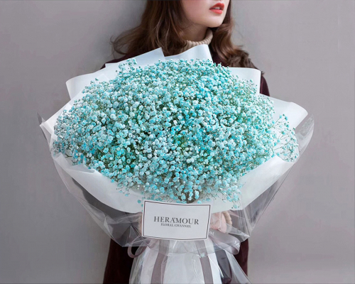 Majestic Tiffany Blue Baby Breath Bouquet