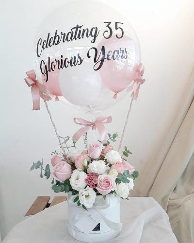 Bonnie Bubble Balloon Flower Box