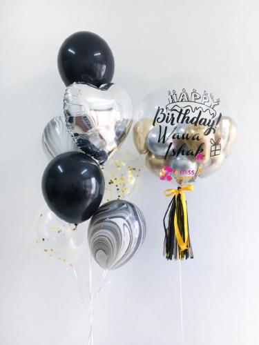 Black & Silver Bubble Balloon Sets