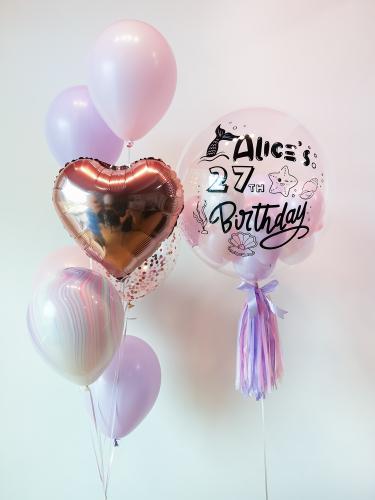 Pastel Pink & Purple Bubble Balloon Sets