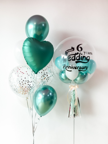 Chrome Green Bubble Balloon Sets