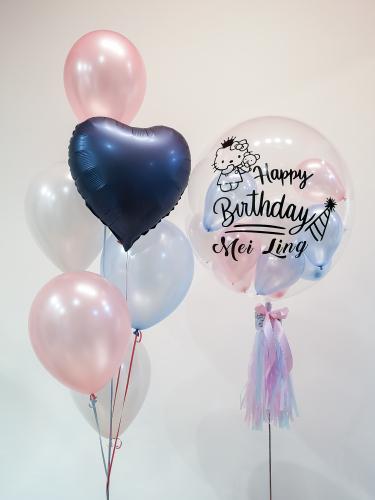 Blue & Pink Bubble Balloon Sets