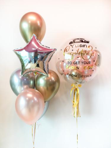 Reflex Gold Silver & Rose Gold Bubble Balloon Sets