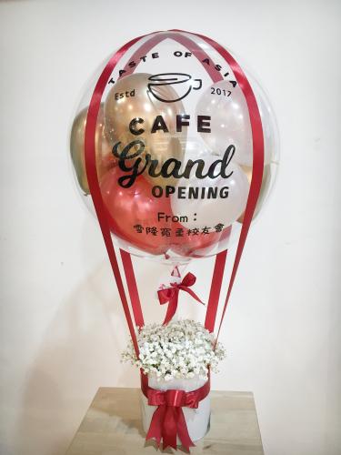 Reflex Gold & Crystal Red Baby Breath Hotair Balloon
