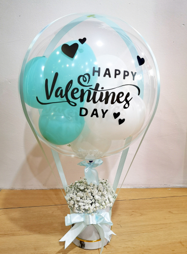 Tiffany Blue Baby Breath Hotair Balloon