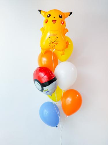 Pika Pokeball Helium Bunch